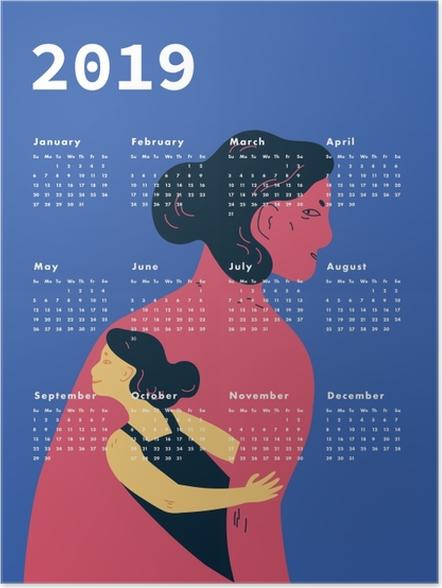 Póster Kalendarz 2019 - mulheres -
