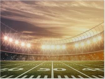 Póster light of stadium