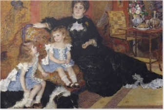 Póster Madame Georges Charpentier and Her Children, Georgette-Berthe and Paul-Émile-Charles