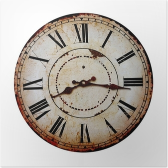 Póster old clock