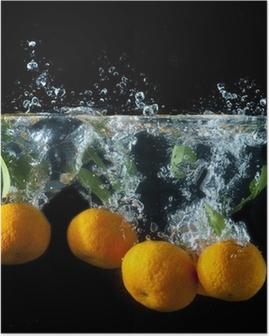 Póster Orange splash