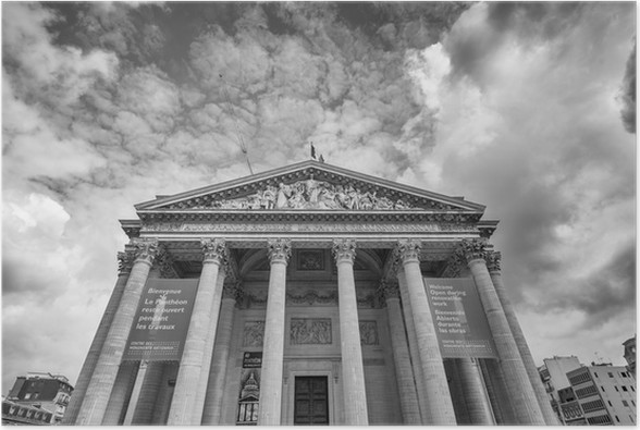 Póster PARIS - CIRCA junho 2014: A vista exterior Pantheon. o landmar - Monumentos