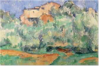 Póster Paul Cézanne - A casa em Bellevue