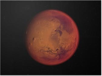 Póster planète mars