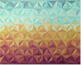Póster Retro hipsters geometric pattern.