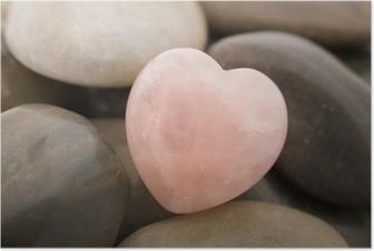 Póster rose quartz heart