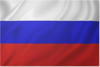 Póster Russia flag