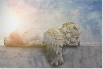 Póster Schlafender Engel im Sonnenschein