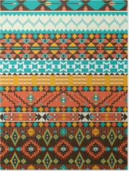 Póster Seamless navajo geometric pattern