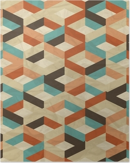 Póster Seamless retro geometric pattern.
