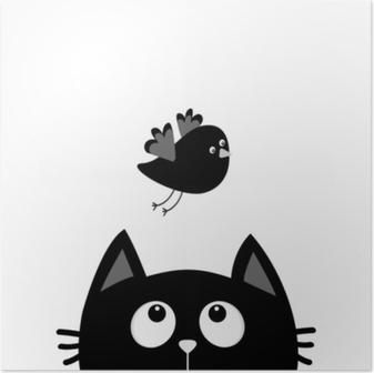 Poster Padrao Colorido Sem Costura Com Gatos Fofos Fundo Do Vetor