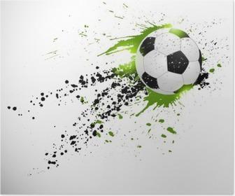 Póster Soccer design
