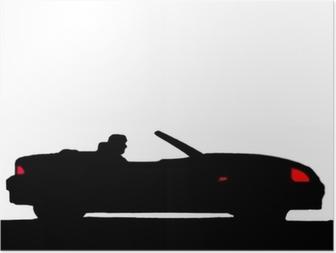 Póster Sport car silhouette