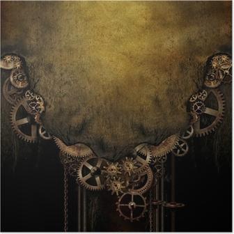 Póster Steampunk Background
