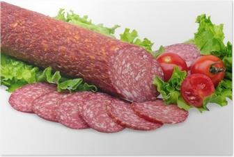 Póster tasty red salami