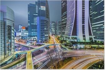 Póster Tokyo Japan at West Shinjuku Skyscraper District