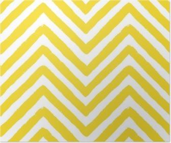 Póster Vetor padrão chevron amarelo sem costura