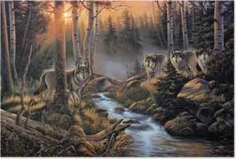 Poster Стая волков