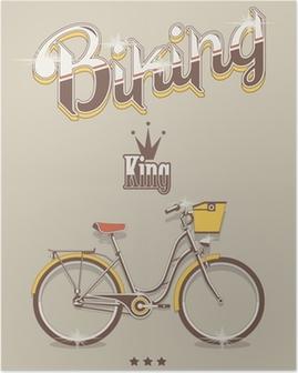 Poster Arka plan Bisiklet, vektör bisiklet kral