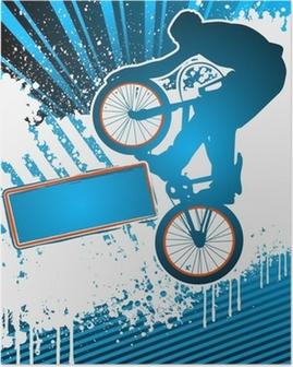 Poster BMX bisikletçi poster şablonları vektör