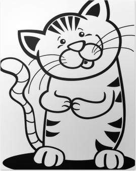 Kedi Illustrasyon Siluet Poster Pixers Haydi Dunyanizi