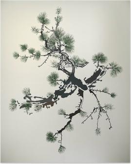 Mürekkep Boyama çam Ağacı Poster Pixers Haydi Dünyanızı