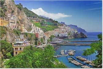 Poster Çarpıcı Amalfi coast. İtalya