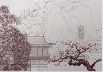 Poster Çin peyzaj