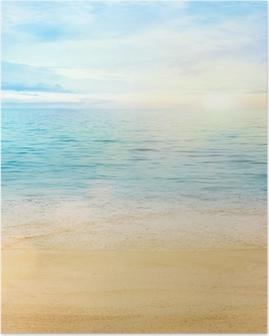 Poster Deniz ve kum arka plan