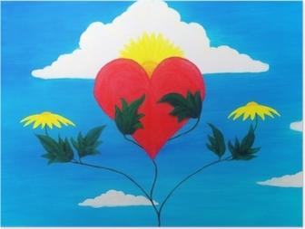 Poster Doğanın gücünü iyileştirmek ve güçleriyle kalbi iyileştirmek.