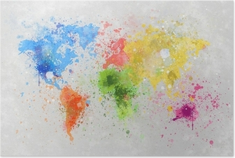 Harita Ve Bayraklar Posterler Pixers Haydi Dünyanızı Değiştirelim