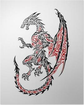 Poster Ejderha Tribal Tattoo 2