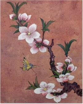 Poster Elma Çiçeklenme şube