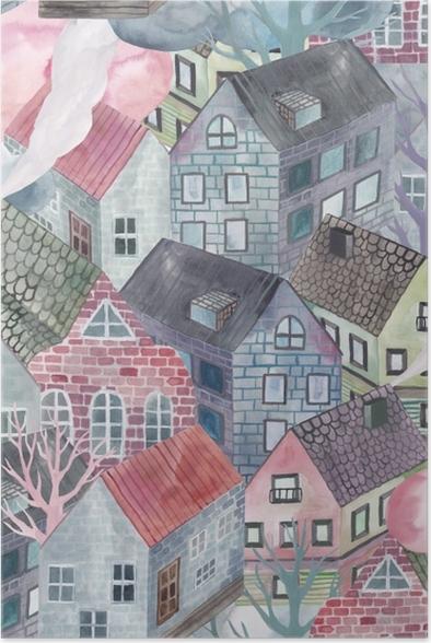 Poster Gri kasaba - Tatiana - Çağdaş sanatçılar