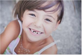 Poster Güzel küçük kız smilling
