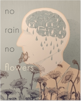 Poster Hiçbir yağmur, hiç çiçek
