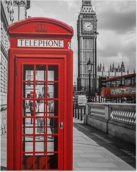 Poster Kabin Téléphone Londra