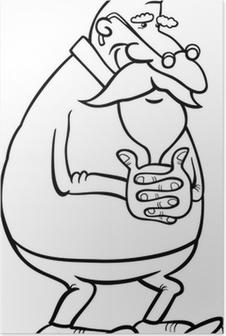 Huysuz Yaşlı Adam Karikatür Illüstrasyon Poster Pixers Haydi