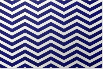 Poster Mavi Zigzag Desenli Kumaş Arkaplan