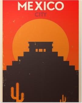 Poster Meksika Vintage Poster Tasarım