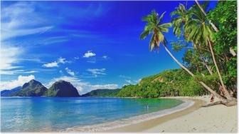 Poster Panoramik güzel plaj sahne - El-Nido, Palawan