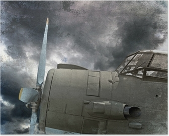 Poster Retro havacılık, eski uçak