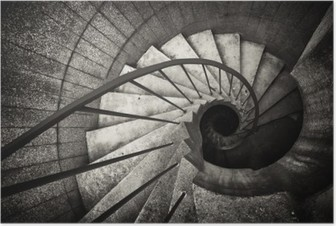 Poster Spiral merdiven..