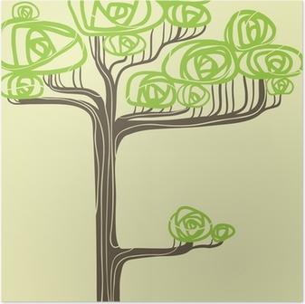 Akça Ağaç Vector Illustration Poster Pixers Haydi Dünyanızı