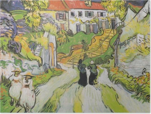 Poster Vincent van Gogh - At Auvers Merdiven - Reproductions
