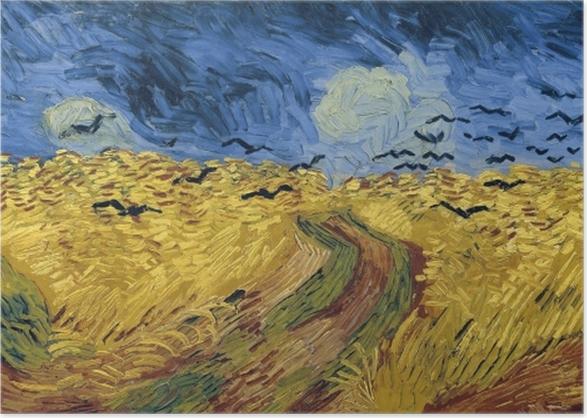 Vincent van Gogh - Buğday Tarlası ve Kargalar Poster • Pixers ...