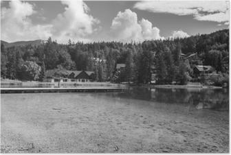 Poster Yaz aylarında güzel doğal göl jasna, kranjska gora, slovenya