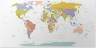 Poster Yüksek Detay Dünya map.Layers kullanılır.