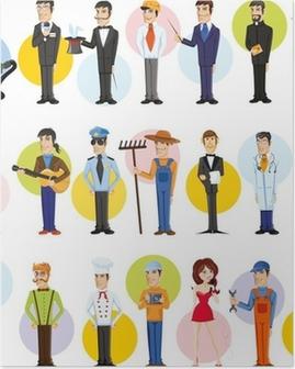 Герои мультфильмов разных профессий Poster