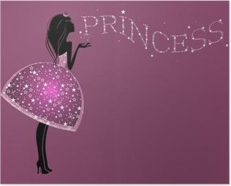 Красивая Принцесса в платье с блестками Poster